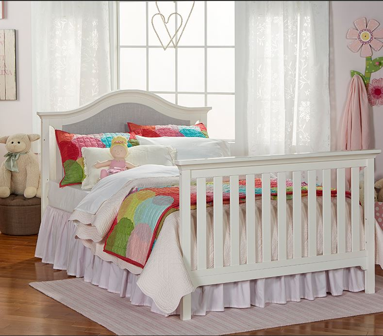 Ashley Furniture In Linden Nj: Karisma Upholstered Convertible Crib In White