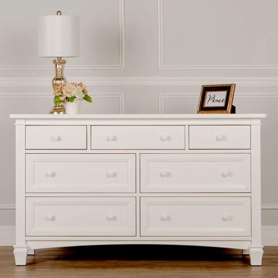 Laska Double Dresser in White