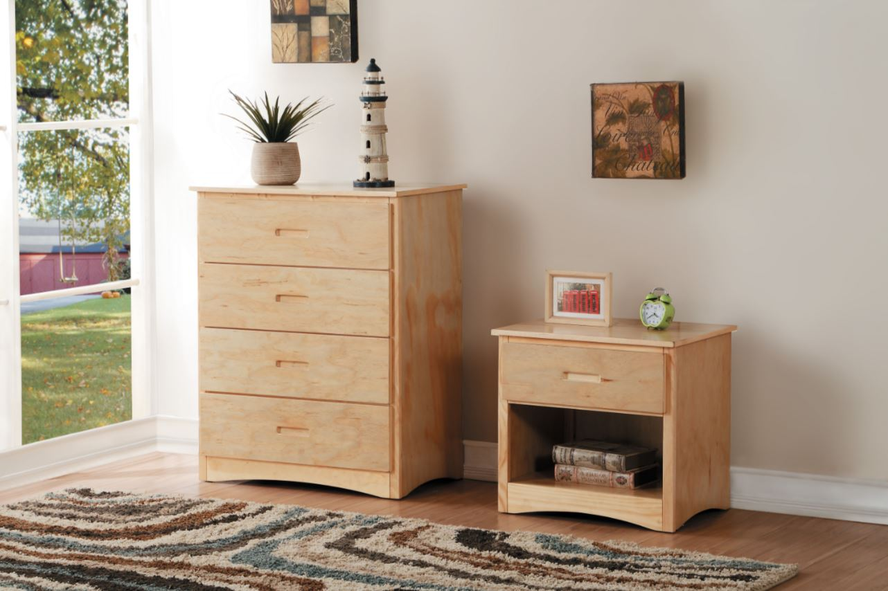 Belden Collection 4 Drawer Chest Grey White Natural