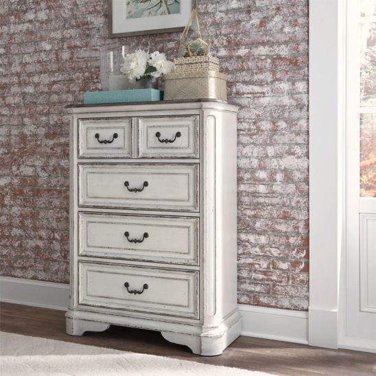 Le Grand 4 Drawer Chest in Antique White