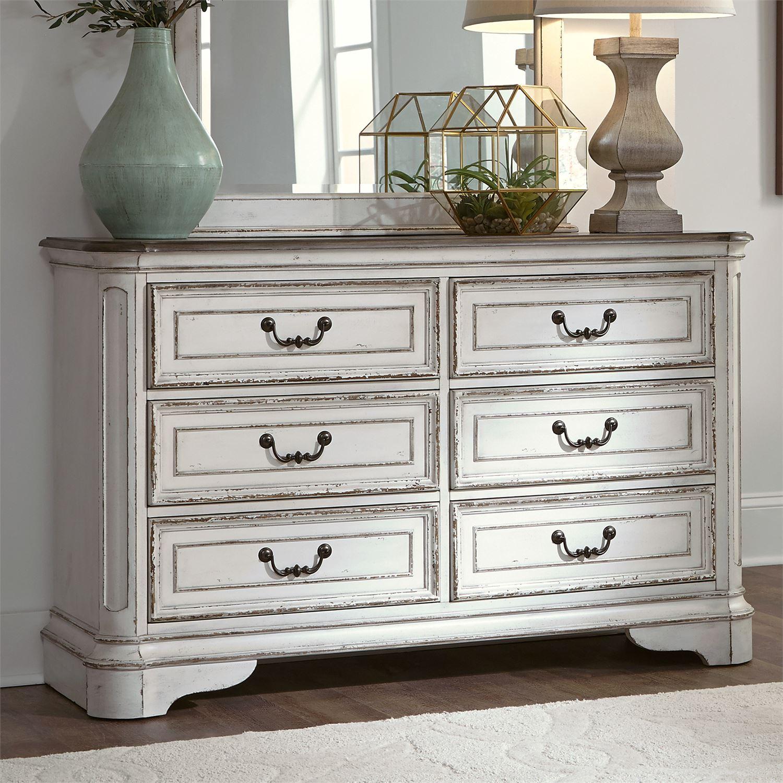Grand Furniture Kids: Le Grand 6 Drawer Dresser In Antique White
