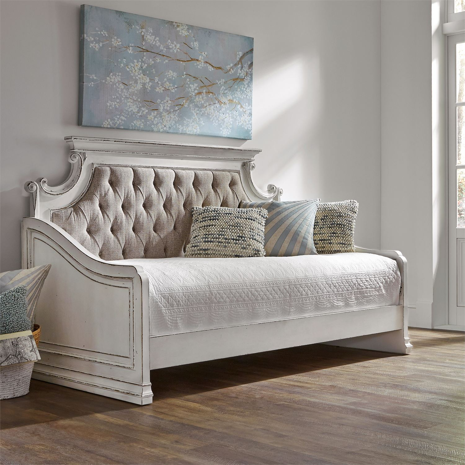 Le Grand Twin Size Daybed In Antique White
