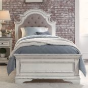 Le Grand Twin Size Bed in Antique White 1