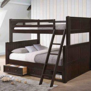 Full over Queen Bunk Beds