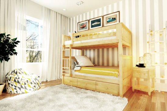 bristol natural with 3 drawer underbed unit