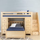 chester loft bed with chest desk and bottom bed