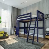 jackpot canterbury loft bed blue 1