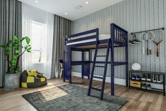 jackpot canterbury loft bed blue 1