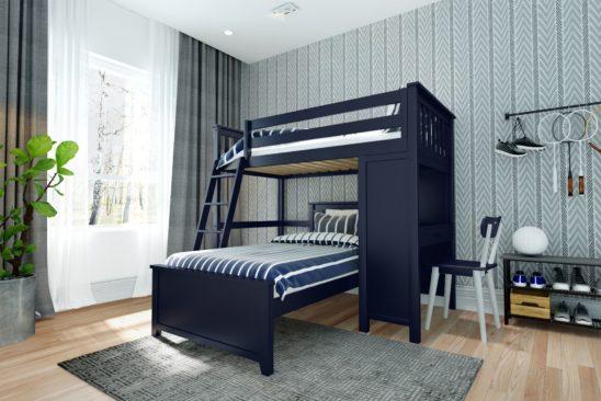 jackpot canterbury loft bed blue