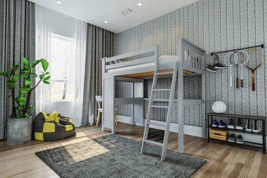 jackpot canterbury loft bed grey 1