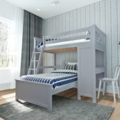 jackpot canterbury loft bed grey