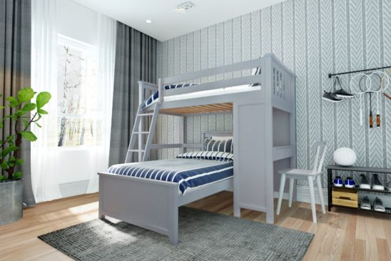 jackpot canterbury loft bed grey