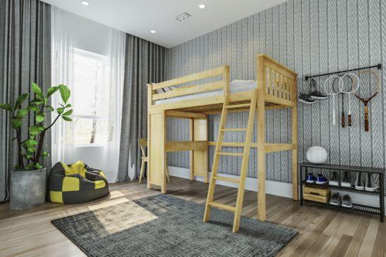jackpot canterbury loft bed natural 1