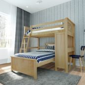 jackpot canterbury loft bed natural