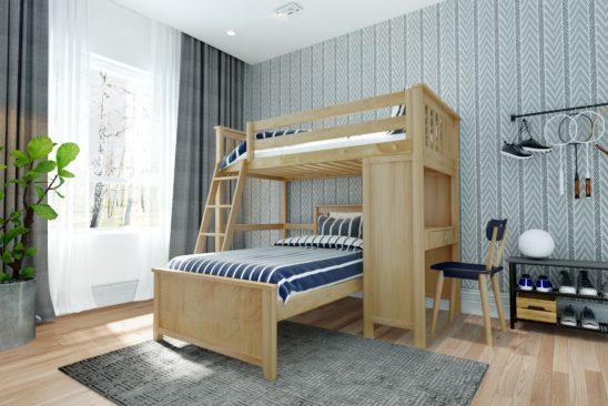 jackpot canterbury loft bed natural