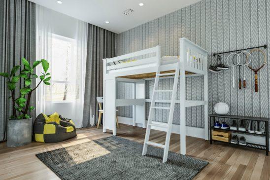 jackpot canterbury loft bed white 1