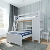 jackpot canterbury loft bed white