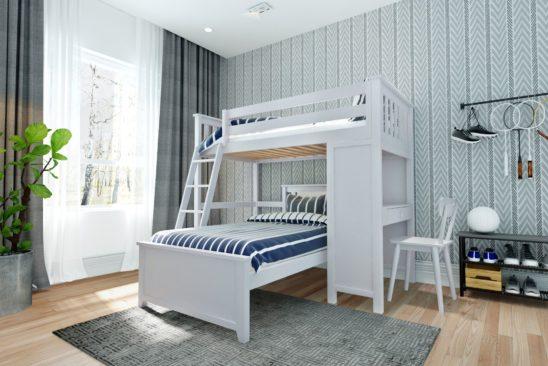 jackpot canterbury loft bed white