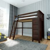 jackpot edinburgh loft bed espresso