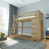 jackpot edinburgh loft bed natural