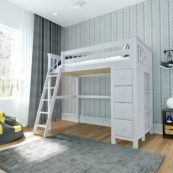jackpot edinburgh loft bed white