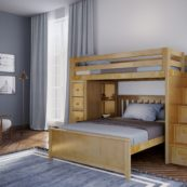 jackpot oxford loft bed natural