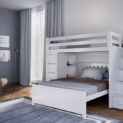 jackpot oxford loft bed white