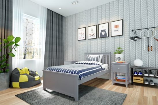 jackpot robin bed grey
