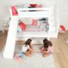 maxtrix white bunk with slide