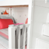 maxtrix white staircase bunk