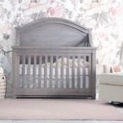 Roman Curved Panel Convertible Crib in Washed Grey
