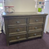 6 drawer dresser in weathered grey