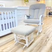 Dutailier Classic Rocker Glider with Ottoman - Copy