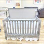 Harlow Custom Upholstered Weathered Crib