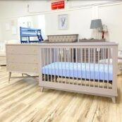 Mid Century crib and dresser